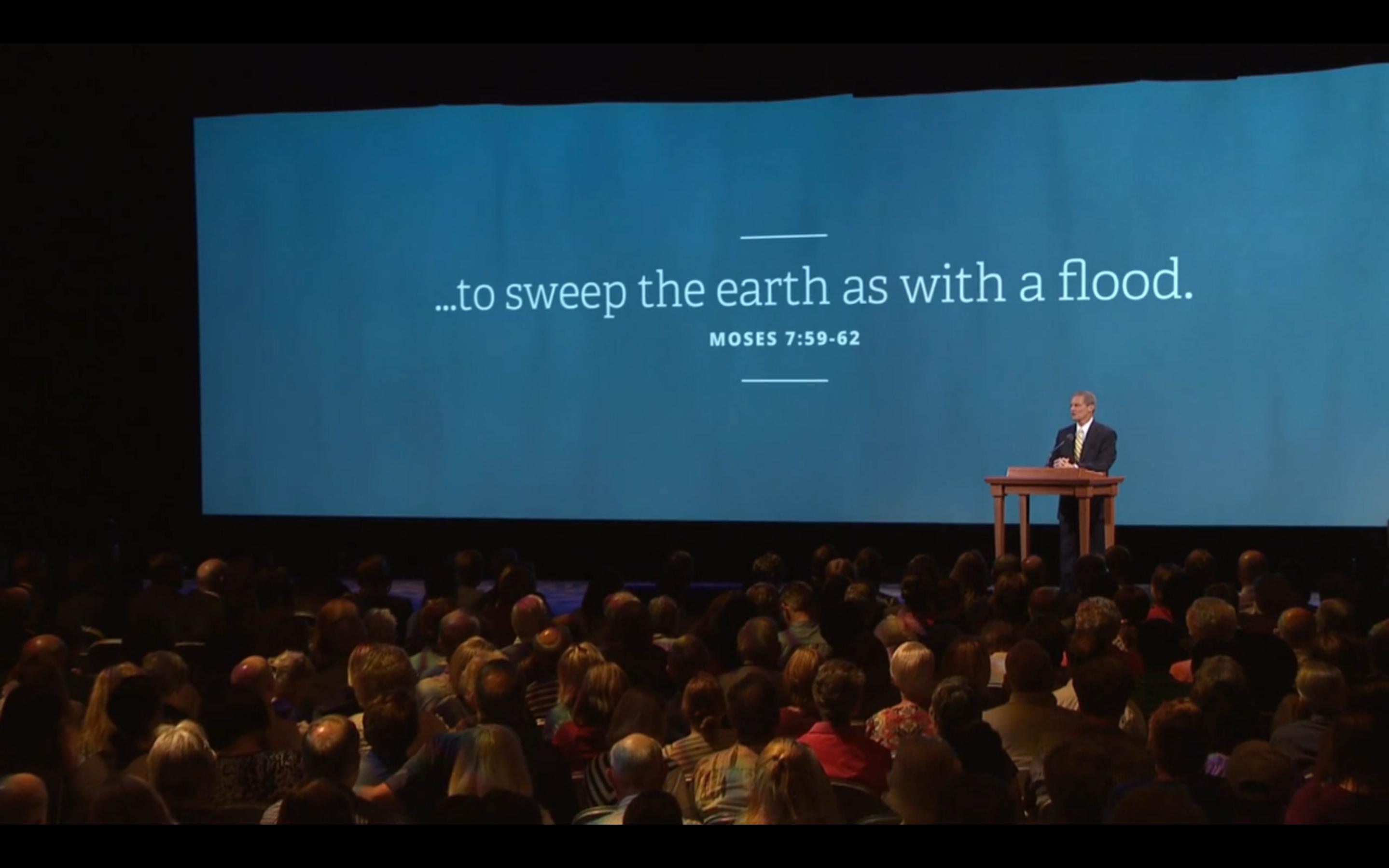 Apresentação da visão geral sobre Varrer a Terra como um Dilúvio
