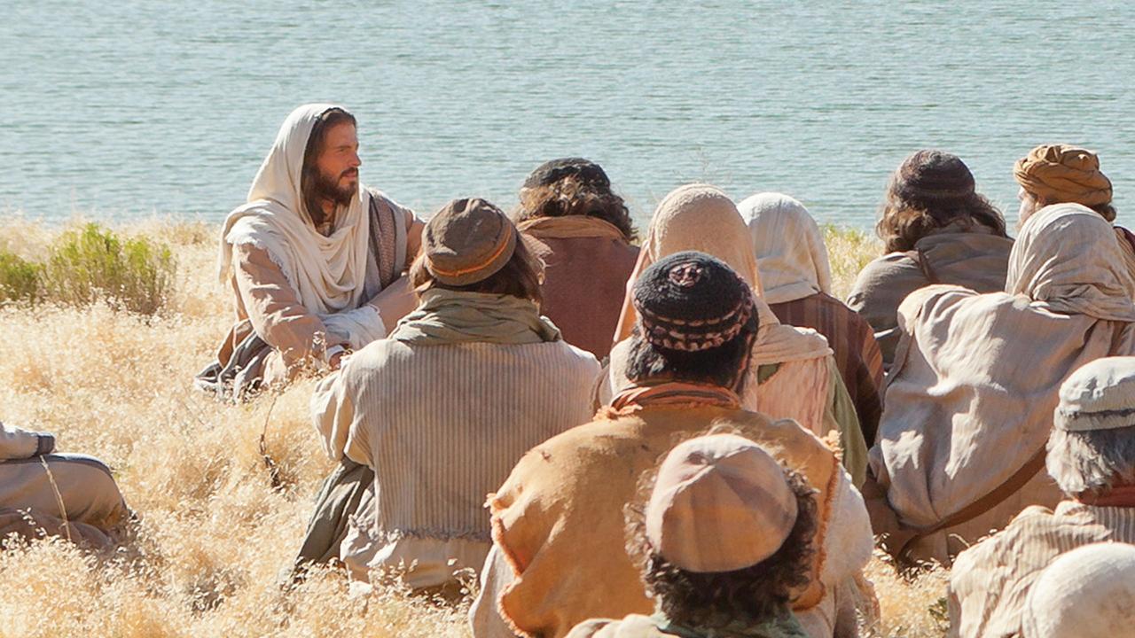 Christ teaching disciples