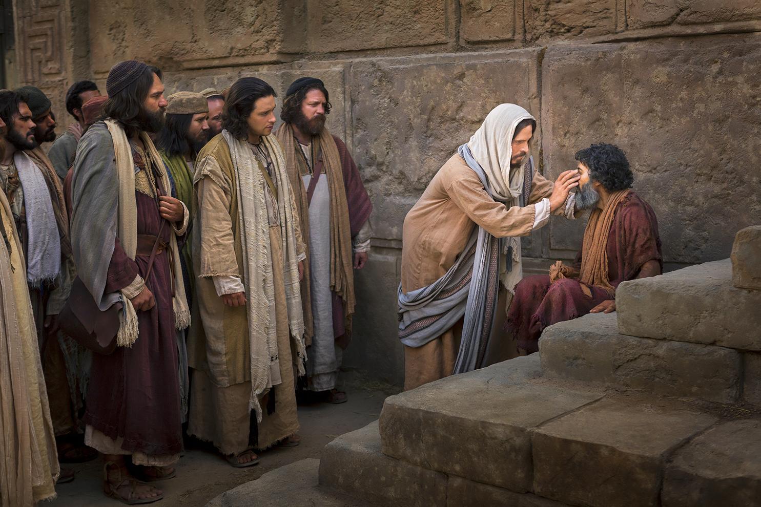 Jesus curando um homem cego