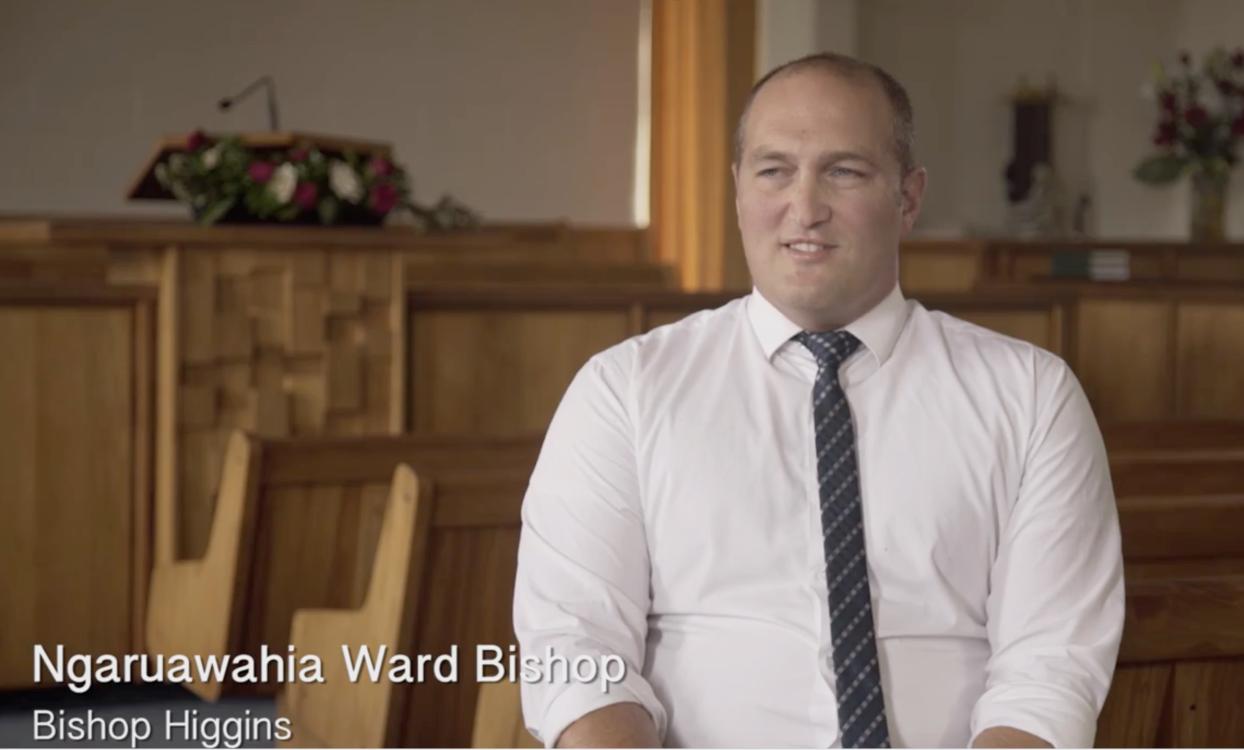 Bishop Higgins of the Ngaruawahia ward