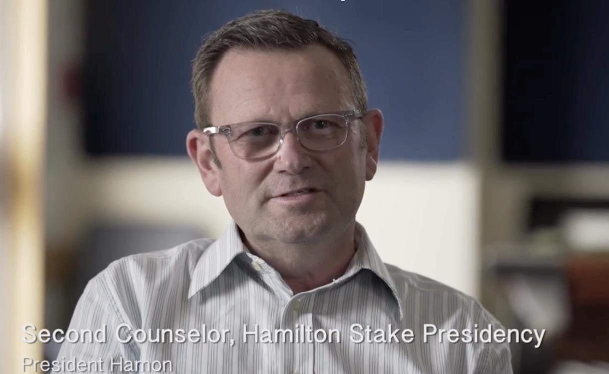 President Hamon, second counselor of the Hamilton Stake Presidency