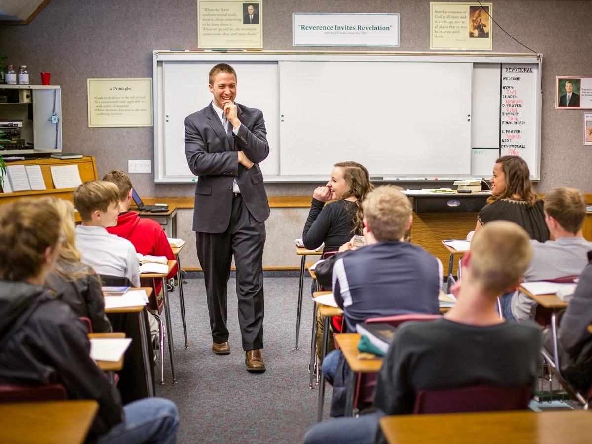 Seminary teacher teaching
