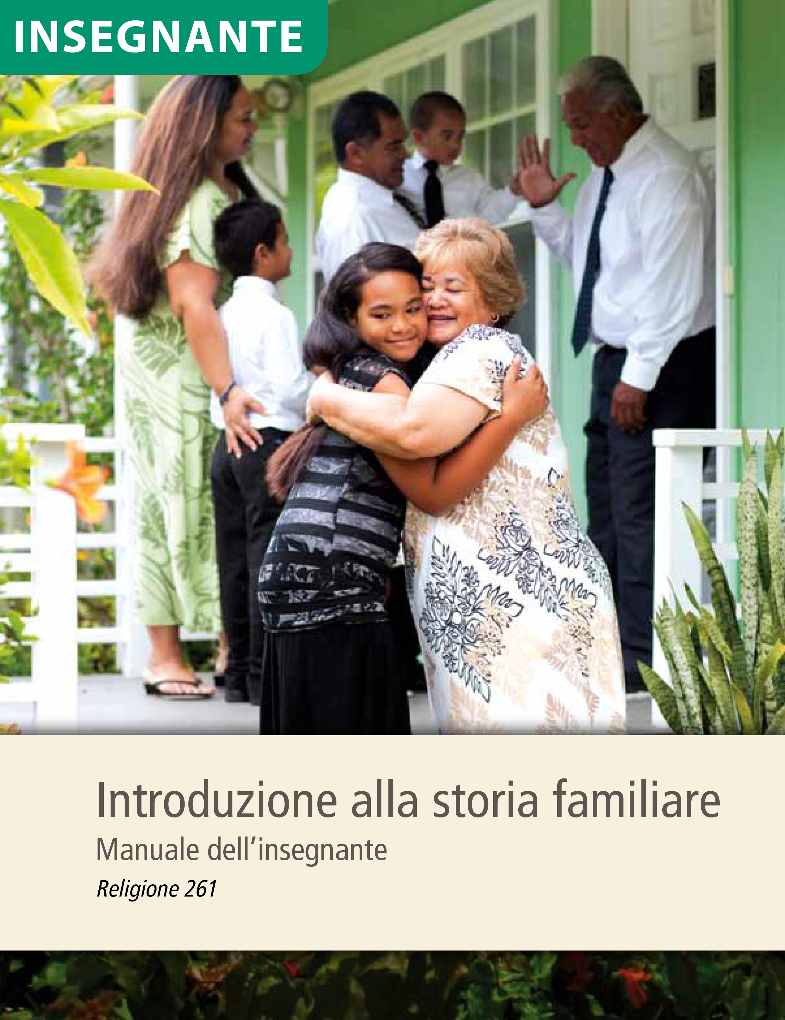 Introduzione alla storia familiare – Manuale dell'insegnante (Religione 261)