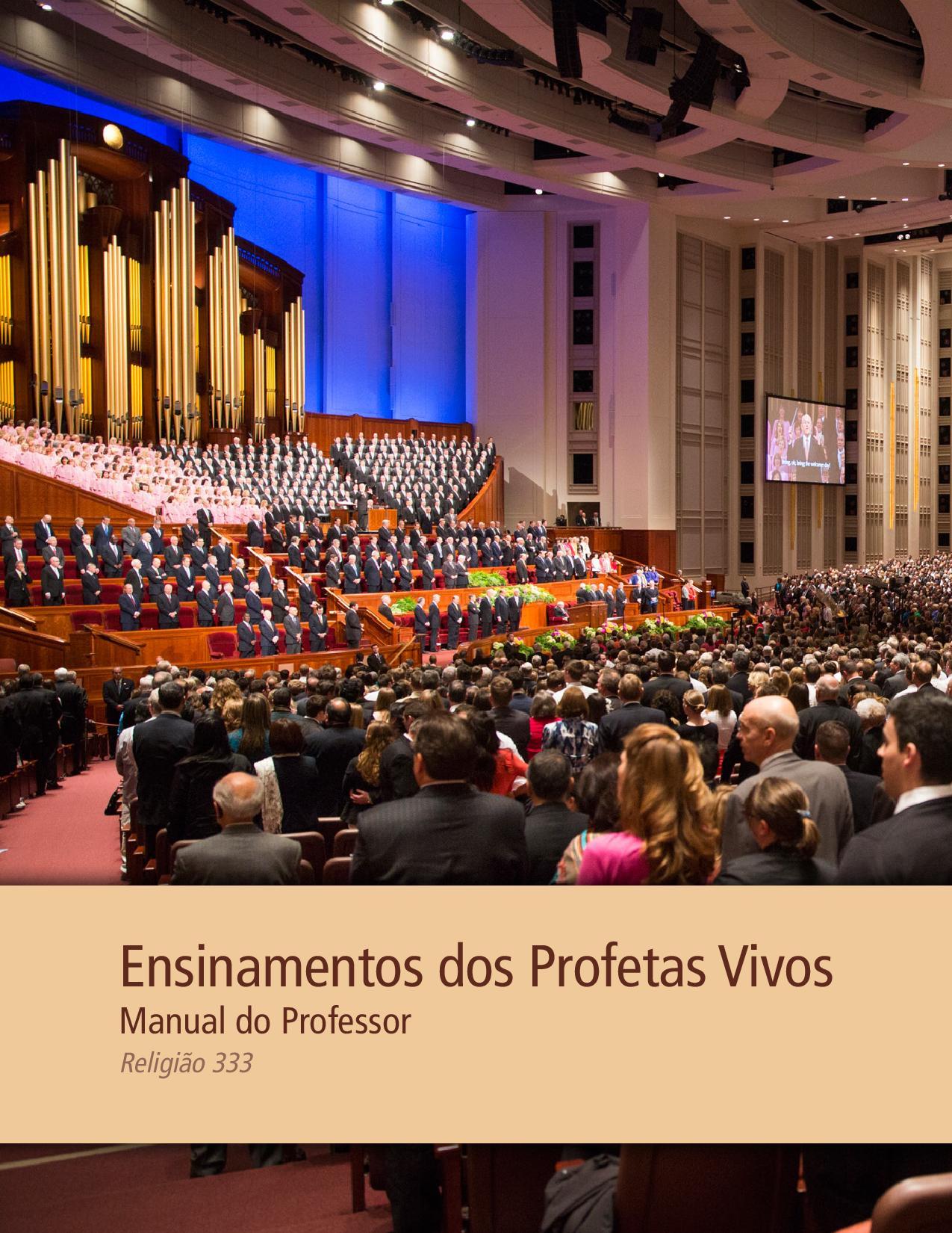 Ensinamentos dos Profetas Vivos — Manual do Professor