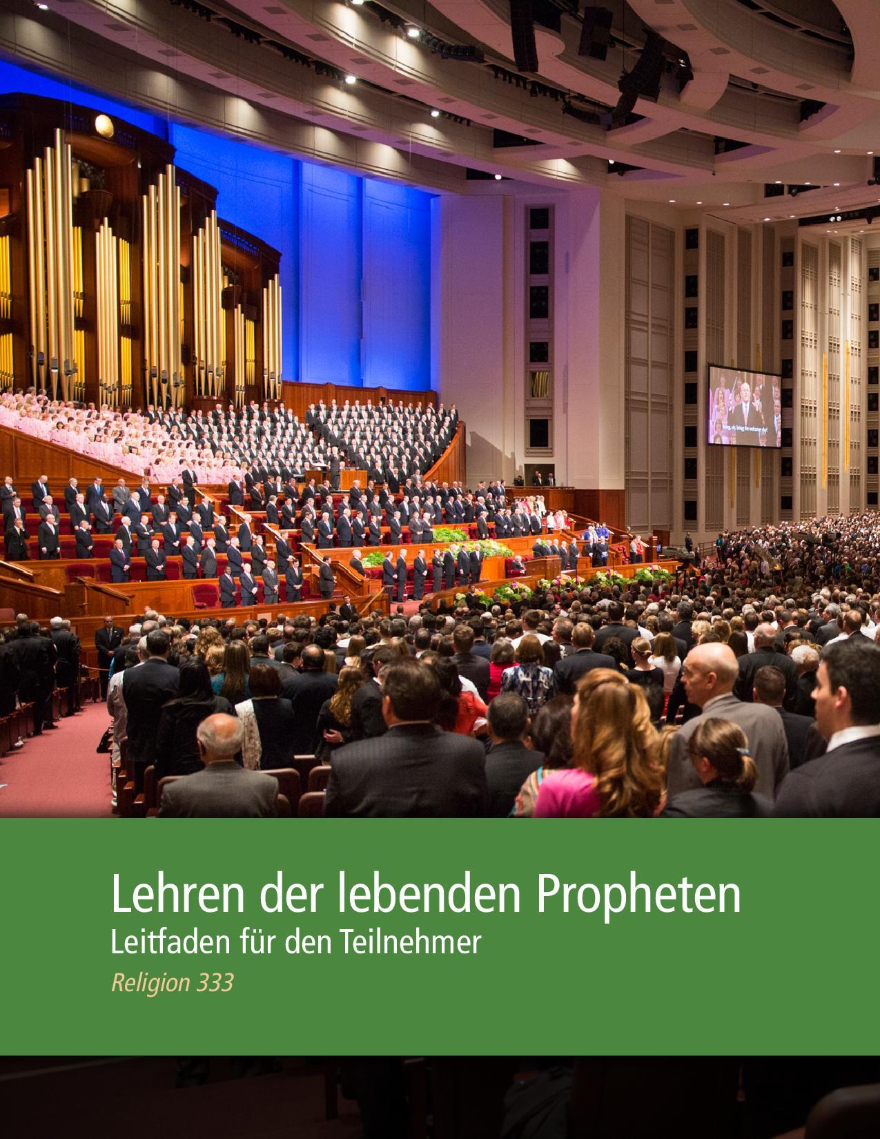 Lehren der lebenden Propheten – Leitfaden für den Teilnehmer