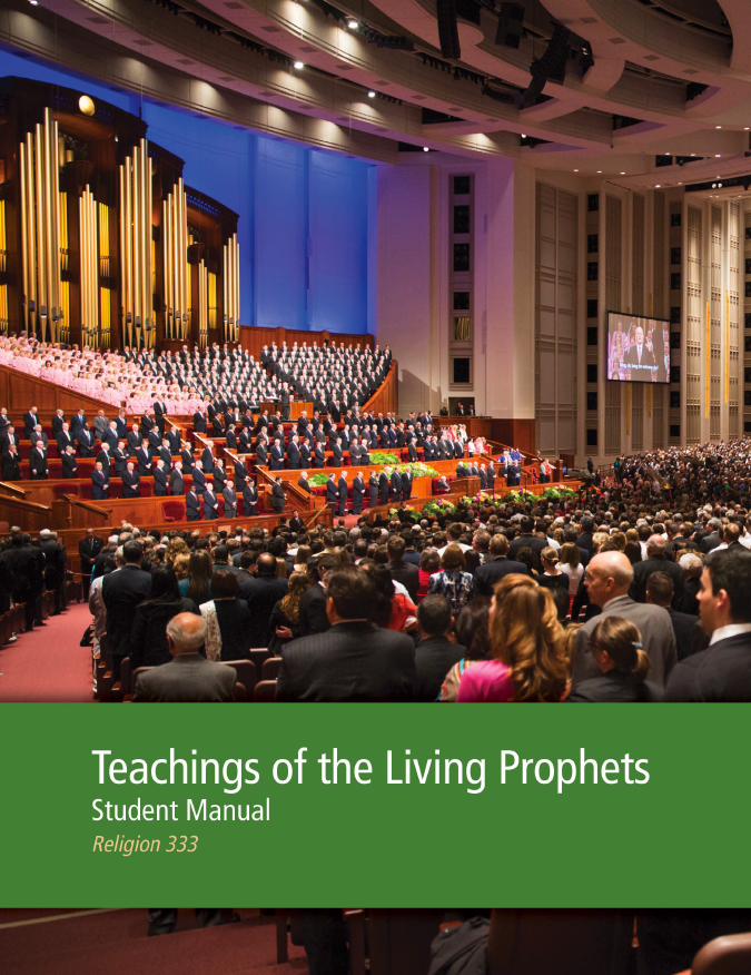 Teachings of the Living Prophets Student Manual