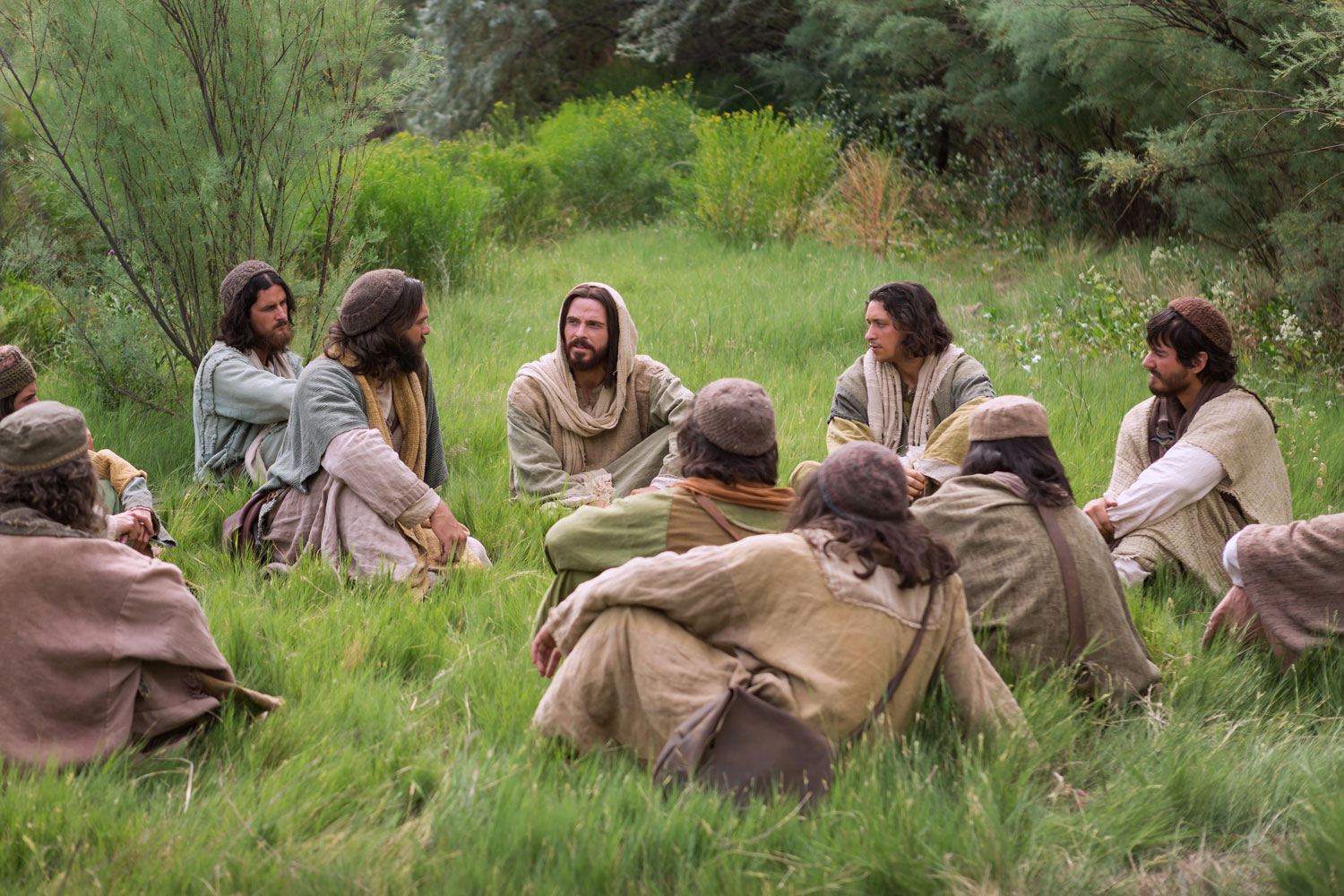Christ teaching disciples