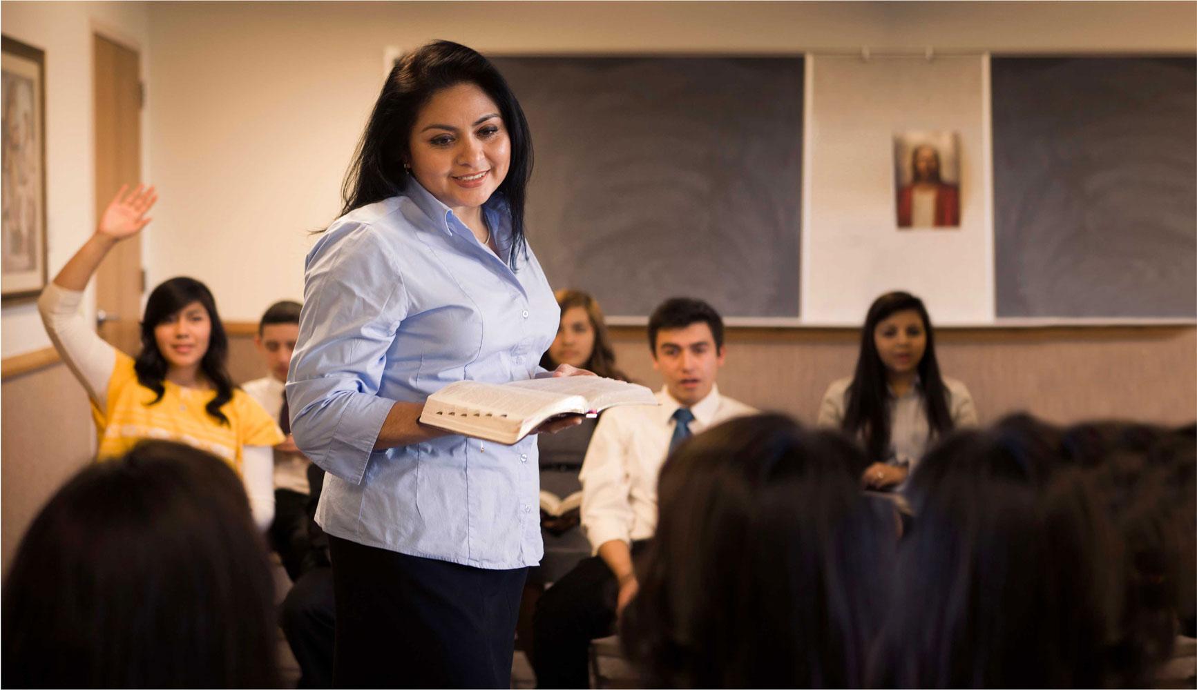 Teacher in a classroom