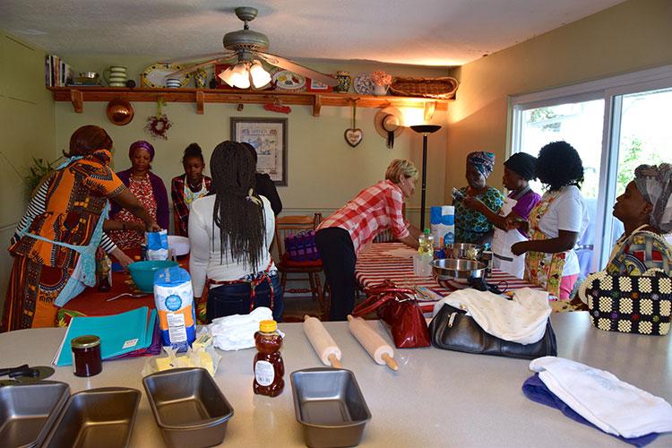 Refugee baking class