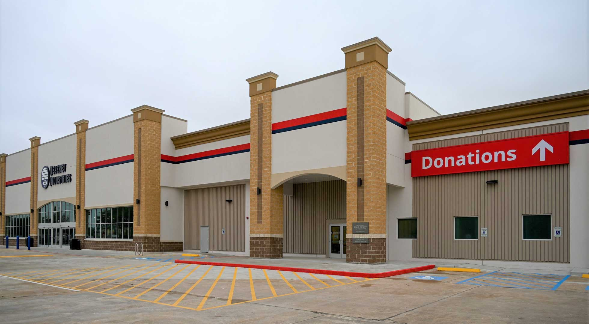The donation drive-thru at the Houston Deseret Industries.